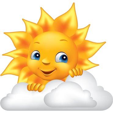 Sticker Design soleil et nuage - import2503 & stickers muraux - fanastick.com