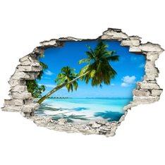 Sticker Trompe l'œil Au bord d'une plage