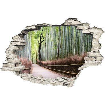 Sticker Trompe l'œil Forêt de bambou - stickers trompe l oeil & stickers muraux - fanastick.com