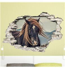 Sticker Trompe l'œil Un cheval de prairie