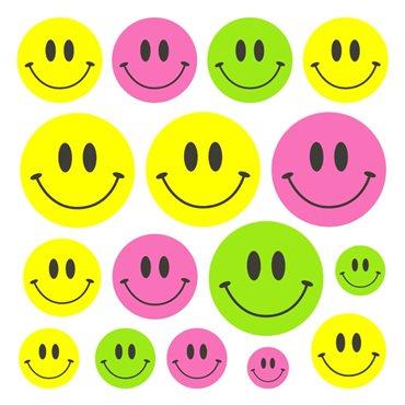 Sticker Smileys de 3 couleurs - import2503 & stickers muraux - fanastick.com