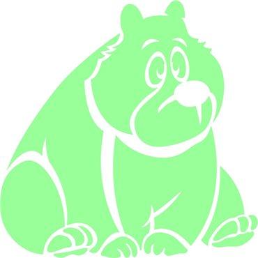 Sticker phosphorescent drôle ours - stickers phosphorescent & stickers muraux - fanastick.com