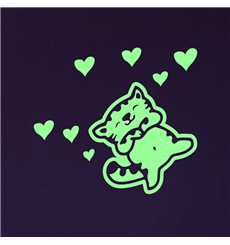Sticker phosphorescent  chaton 2