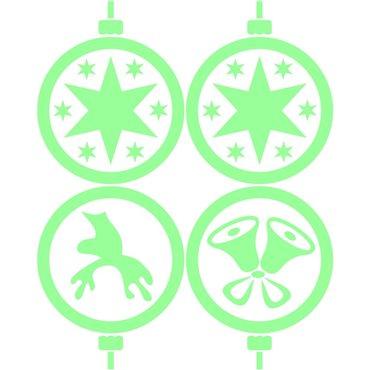 Sticker phosphorescent Noël boules de déco - stickers phosphorescent & stickers muraux - fanastick.com
