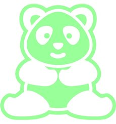 Sticker phosphorescent panda