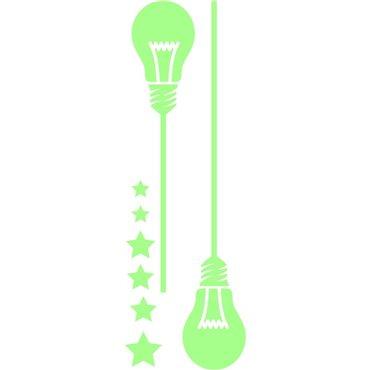 Sticker phosphorescents ampoules - stickers phosphorescent & stickers muraux - fanastick.com