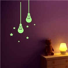 Sticker phosphorescents ampoules