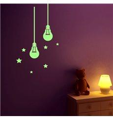 Sticker phosphorescents ampoules