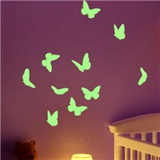Sticker phosphorescent papillons