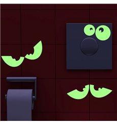 Sticker ensemble de yeux phosphorescents