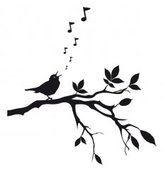 Sticker Oiseau chanteur