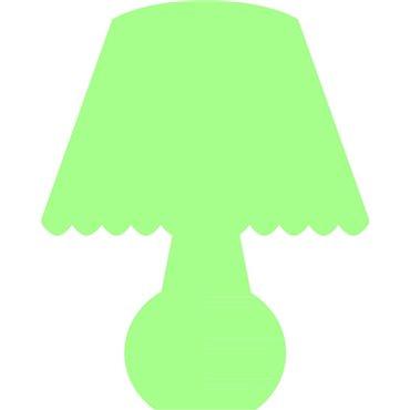 Sticker phosphorescent lampe 1 - stickers phosphorescent & stickers muraux - fanastick.com