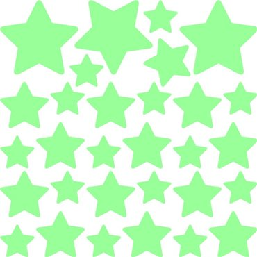 Sticker phosphorescent mini-série de 30 étoiles - stickers phosphorescent & stickers muraux - fanastick.com