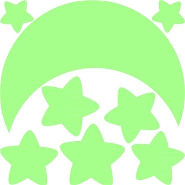 Sticker Phosphorescent Lune et Étoiles - stickers phosphorescent & stickers muraux - fanastick.com