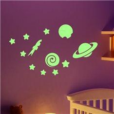 Sticker phosphorescent planètes et les étoiles