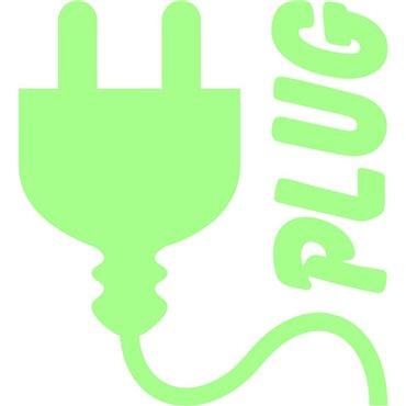 Sticker symbole de prise phosphorescente - stickers phosphorescent & stickers muraux - fanastick.com