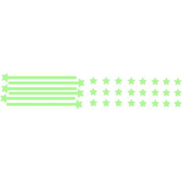 Sticker nuée d' Étoiles Phosphorescentes - stickers phosphorescent & stickers muraux - fanastick.com