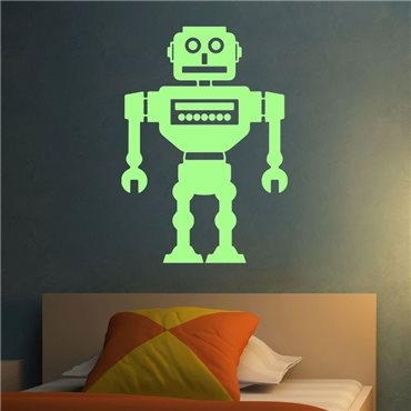 Sticker Phosphorescents Robot - stickers phosphorescent & stickers muraux - fanastick.com