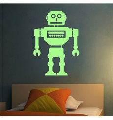 Sticker Phosphorescents Robot