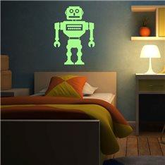 Sticker Phosphorescents Robot