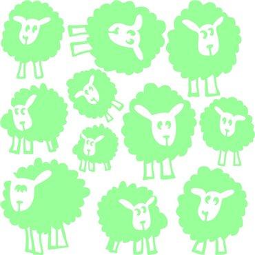 Sticker phosphorescent Les moutons - stickers phosphorescent & stickers muraux - fanastick.com
