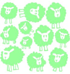 Sticker phosphorescent Les moutons