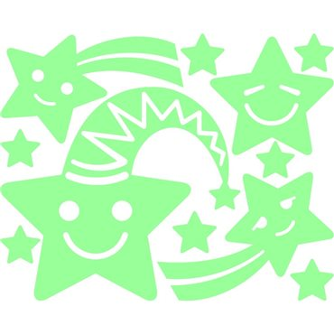 Sticker étoiles souriant phosphorescent - stickers phosphorescent & stickers muraux - fanastick.com