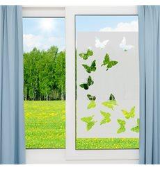 Sticker vinyle sablé pour vitre - papillons 85x55cm