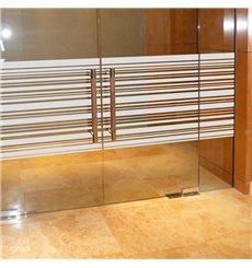 Sticker vitres lignes horizontales 200x55cm