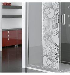 Sticker vinyle sablé pour vitre - fleur d'orchidée 185x55cm