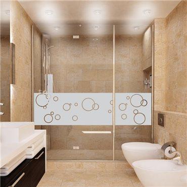 Sticker porte de douche bulles de savon 200x55cm - stickers vitre & stickers muraux - fanastick.com