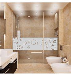 Sticker porte de douche bulles de savon 200x55cm
