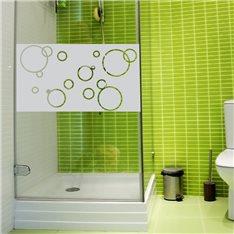 Sticker porte de douche bulles de savon 100x55cm