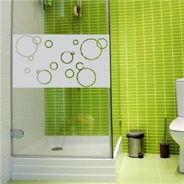 Sticker porte de douche bulles de savon 100x55cm - stickers vitre & stickers muraux - fanastick.com