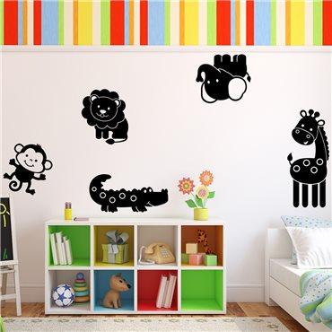 Sticker dessins d' animaux de la jungle - stickers animaux enfant & stickers enfant - fanastick.com
