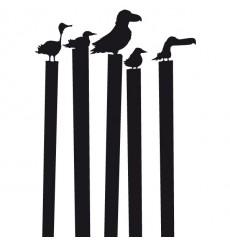 Sticker Oiseaux sur les piliers