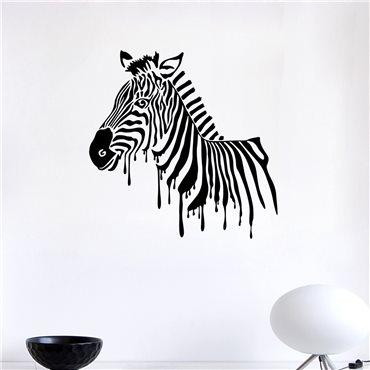 Sticker Zèbre peint - stickers animaux & stickers muraux - fanastick.com