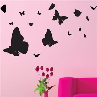 Sticker nuée de papillons - stickers papillon & stickers muraux - fanastick.com