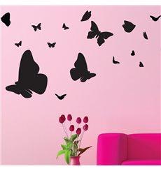 Sticker nuée de papillons