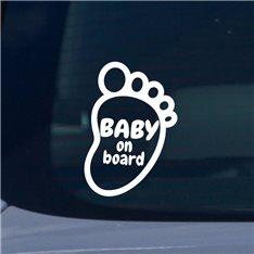 Sticker Bébé à bord empreinte