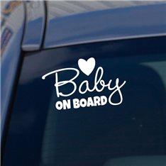 Sticker Bébé à bord coeur