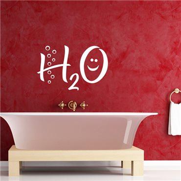Sticker H2O - stickers salle de bain & stickers muraux - fanastick.com