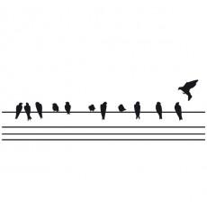 Sticker Oiseaux sur un fil