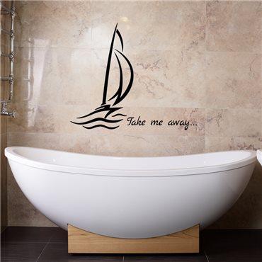 Sticker Emmène-moi - stickers salle de bain & stickers muraux - fanastick.com