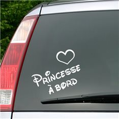 Sticker Princesse à bord