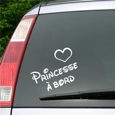 Sticker Princesse à bord - stickers bébé à bord & stickers muraux - fanastick.com