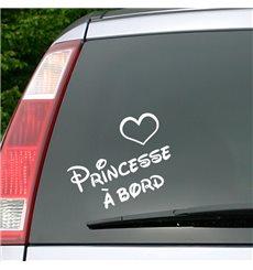 Sticker Princesse à bord