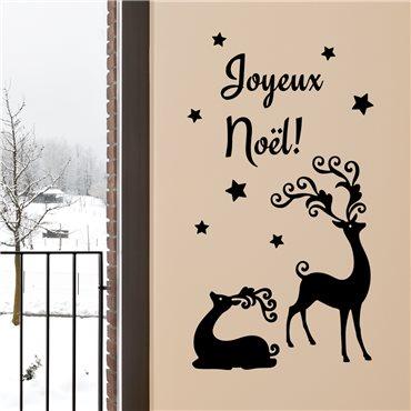 Sticker Rennes de Noël (français) - stickers noël & stickers muraux - fanastick.com