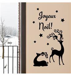 Sticker Rennes de Noël (français)