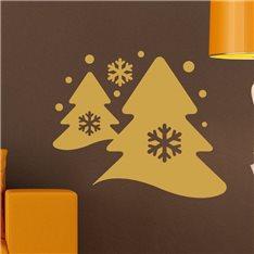 Sticker pin arbres et la neige